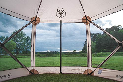 Gazelle Tents 21500 G6 Pop-Up Portable 6-Sided Hub Gazebo/Screen Tent, Dessert Sand, Easy Instant Set Up in 60 Seconds