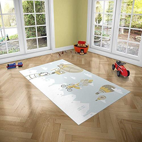 Oedim Alfombra Infantil Animales para Habitaciones PVC | 95 x 95 cm | Moqueta PVC | Suelo vinílico | Decoración del Hogar | Suelo Sintasol | Suelo de Protección Infantil |