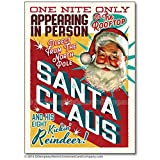 Santa Claus One Night Only Christmas Cards, Package of 8