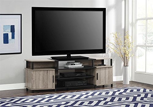 """Ameriwood Home Carson TV Stand for TVs up to 70"""", Weathered Oak"""