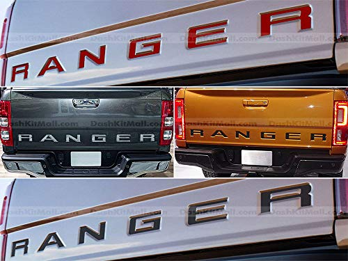 SF Sales USA - Black Tailgate Letters for Ranger 2019-Up Rear Inserts Not Decals