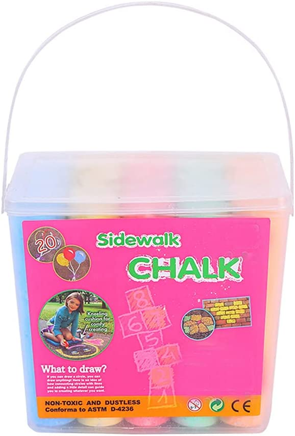 20 Sidewalk Chalks Dealing full price reduction in a Portable Creative Bucket T Washable Wholesale Art