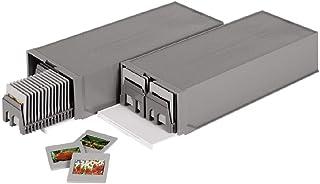 Hama Boîte empilable pour paniers à diapos (lot de 2, contenance de 200 diapositives) Gris