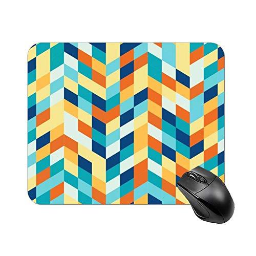 DKISEE rechthoekige muismat geometrisch vierkant antislip rubberen muismat voor laptop, computer en pc, 7.9