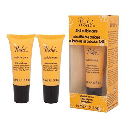 2 Poshe AHA Cuticle Care Treatment Cream 0.5 Oz Professional Nail Salon Manicure