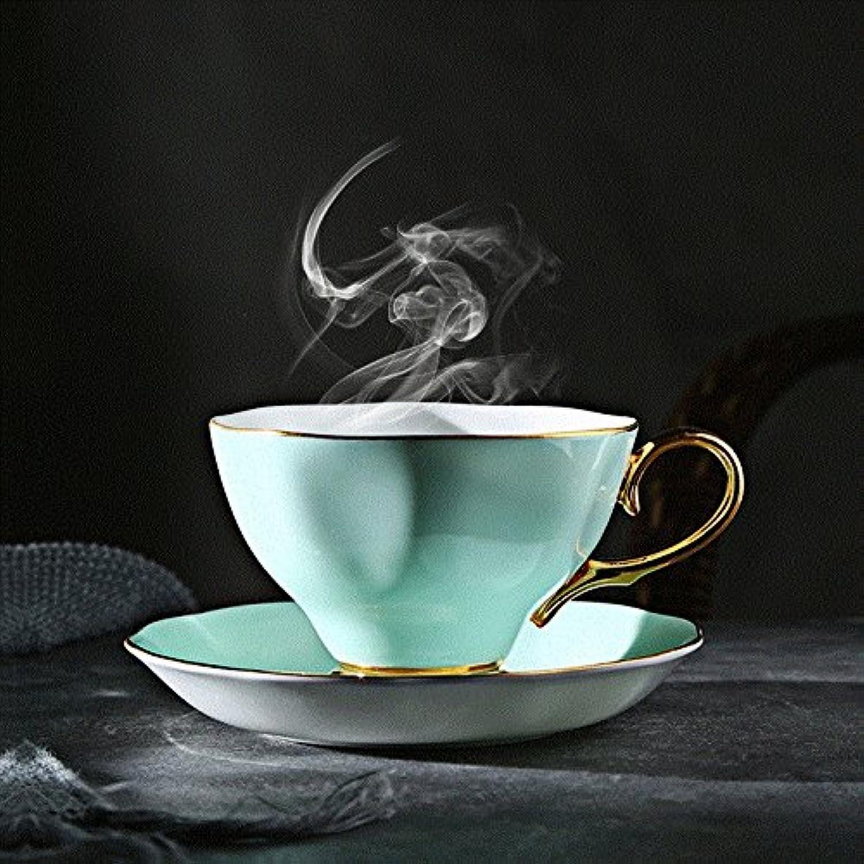 SFSYDDY-Thé Noir Ceramic Tasse Tasse Tasse Et Soucoupe Mis en Ménage Porcelaine