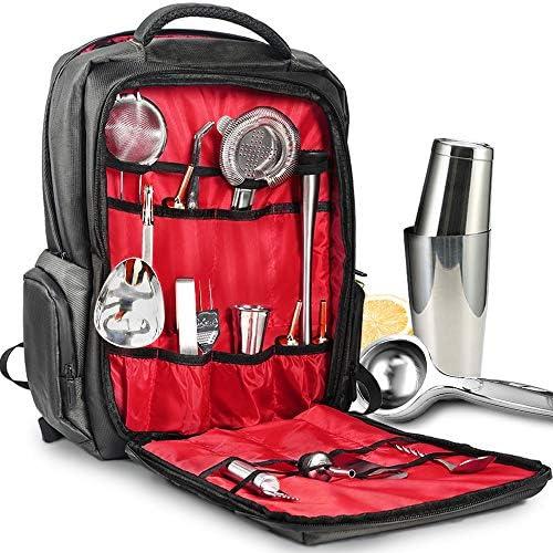 Travel Bartender Bag Professional Waterproof Bar Wine Carrier Set Bartender Bag for Carrying product image