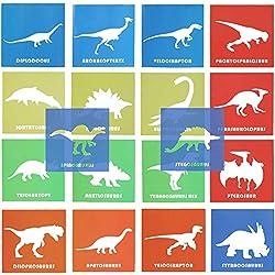 6. Ousita Dinosaur Stencil Set (18pcs)