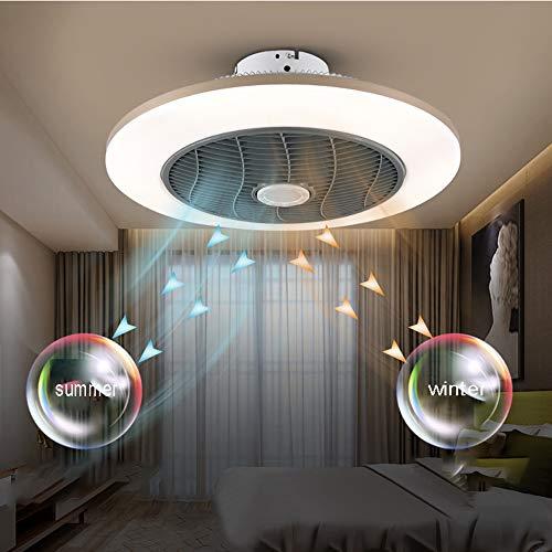 BHA Deckenventilator Leise Mit Beleuchtung LED Fan Deckenleuchte Modern Deckenlampe Lüfterlicht, 36W Dimmbar Mit Fernbedienung Leise Kinderzimmer Schlafzimmer Wohnzimmer Lichter,Weiß