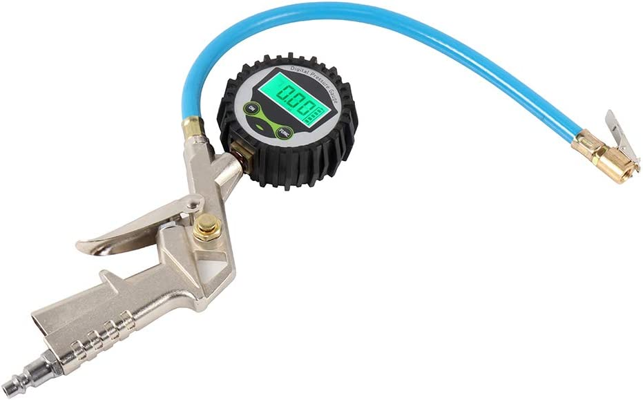 Digital Tire Pressure service Gauge 200 PSI Compr Air Chuck and Inflator Today's only