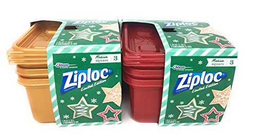 Ziploc Limited Edition Christmas Containers (Red/Gold)