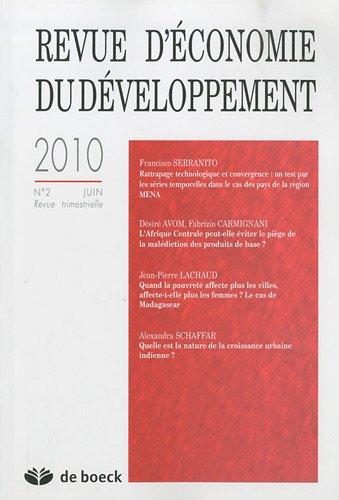 Economie du développement 2010