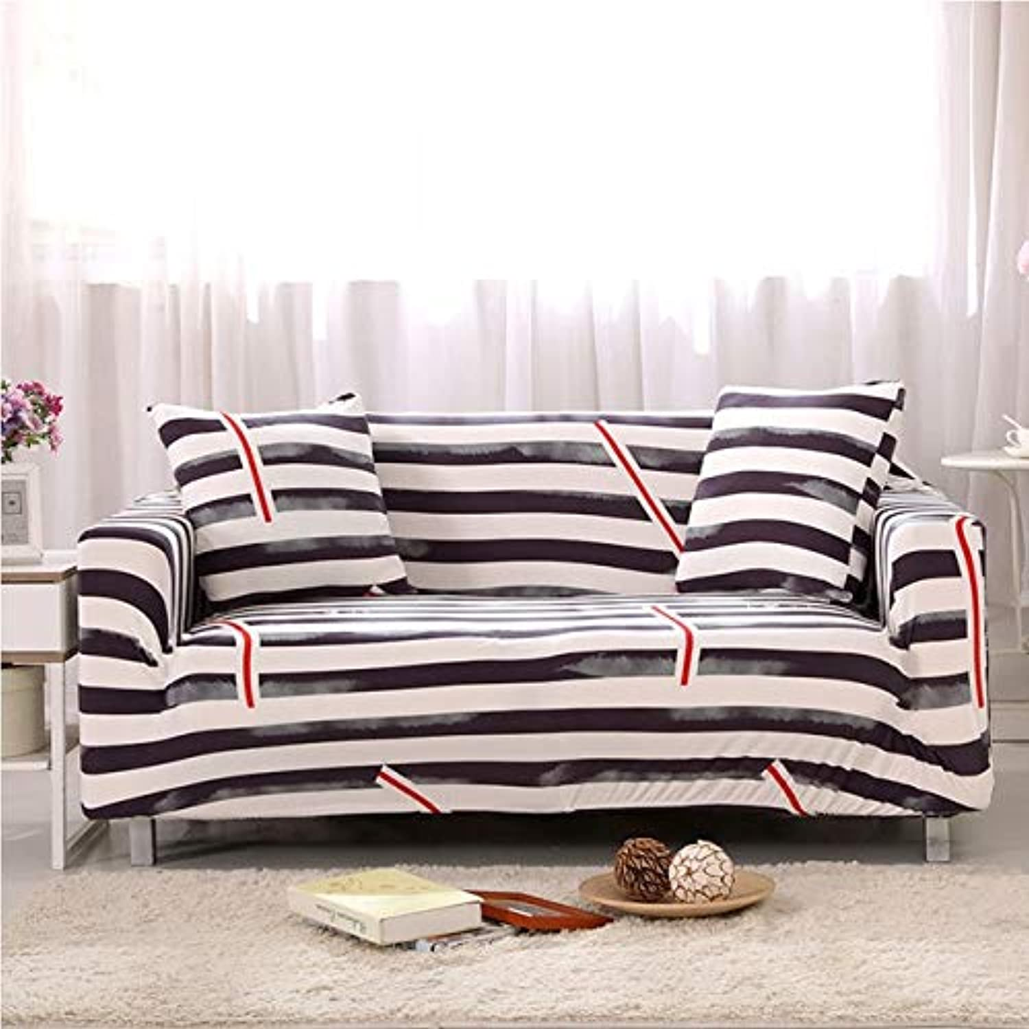 Slipcover Flower Sofa Cover Tight Wrap All-Inclusive Slip-Resistant Corner Covers Sectional Elastic One Two Three Four Seat 018   C, Three seat