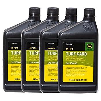 John Deere Original Equipment TURF-GARD 32 oz 10W-30 Oil #TY22029  PACK OF 4