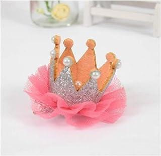 【kiki】ベビー キッズ 女子会 パーティー ミニ 王冠 クリップ お誕生日 100日 1歳 記念日 寝相 アート (シルバー)