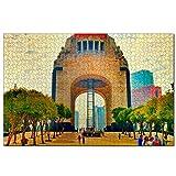 Monumento a México Rompecabezas de 1000 Piezas para Adultos y familias, Regalo de Viaje de Madera, Recuerdo de 30 x 20 Pulgadas