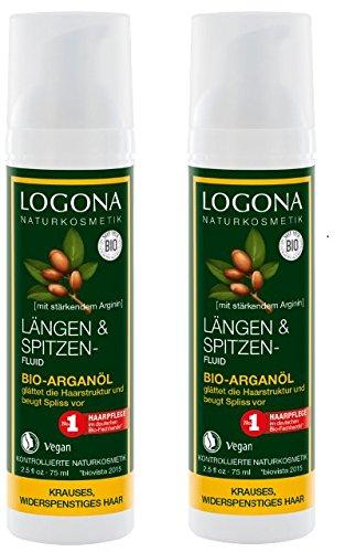 Logona Bio Längen und Spitzenfluid Argan (2 x 75 ml)