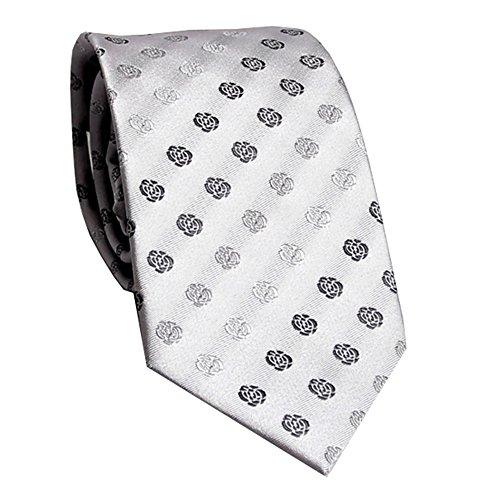 YYB-Tie Mode binden Herren Krawatte Elegantes Floret Mit Business Platin Grau Geschenkbox Krawatte