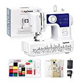 Kylinton Sewing Machine for Beginners Mini Sewing Machine for Kids, Electric Small Sewing Machine with Foot Pedal, 12 Built-in Stitches, 2 Speeds, Automatic Winding for Cloth Girls Adults, Blue