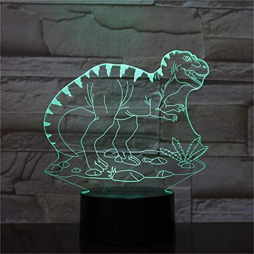 Nachtlampje draak kinderen nachtlampje 3D optische illusie 7 kleuren veranderende verlichting verjaardag Kerstmis verbazingwekkende cadeaus voor baby kinderen meisjes