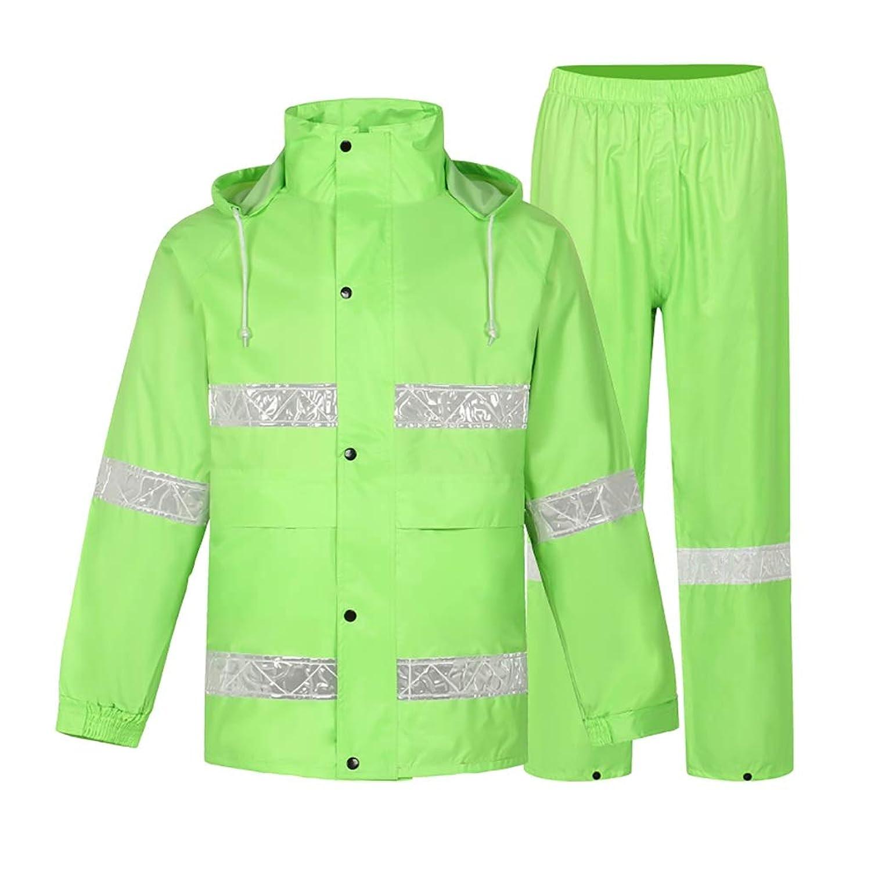 レインコートズボンスプリットスーツ大人用防水防風自転車オートバイ乗馬作業キャンプ釣り (サイズ さいず : M)