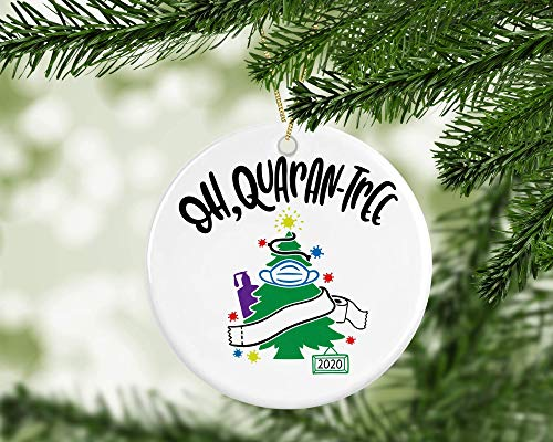 2020 Christmas Ornament Quarantine, Funny Christmas Ornament, Gag Gift