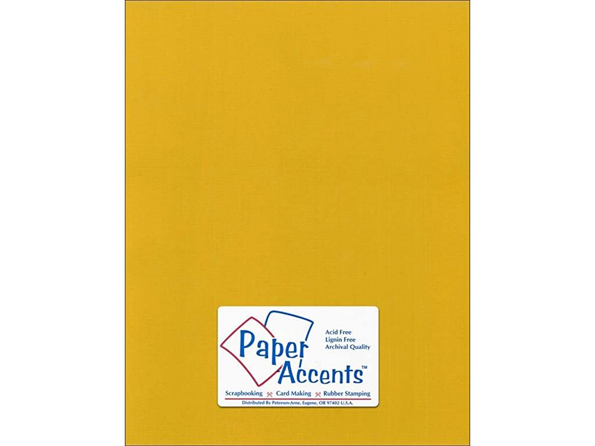 Accent Design Paper Accents Cdstk Canvas 8.5x11 80# Goldenrod