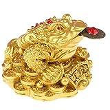 Fortunato Rana dei Soldi, Feng Shui Rospo della Moneta Cinese Charm per La Prosperità Cas...