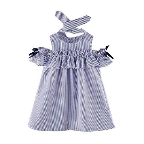 K-youth Vestidos Niña, Verano Vestidos para niña y Diademas, Barata Vestidos a Rayas Ropa Niñas Vestido Infantil Fiesta Niñas 2018 Ofertas para 2-7 años