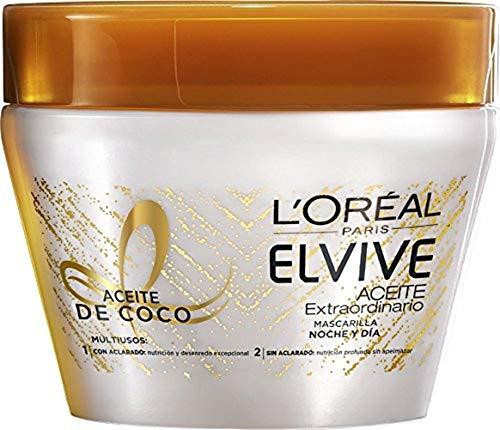 L'Oreal Paris Elvive Mascarilla Aceite de Coco Noche y Día - 300 gr