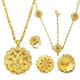 24K Gold Plated Big Size Wedding Jewelry Sets for Ethiopian Habesha Women