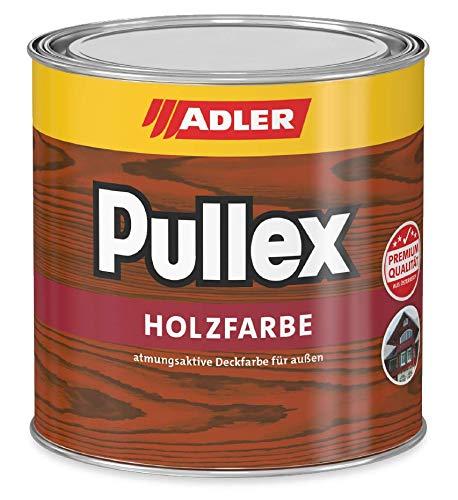 ADLER Pullex Holzfarbe - deckende Wetterschutzfarbe für Sanierung und Neuanstrich mit Schutz vor Bläue- und Schimmelpilz - RAL6005 Moosgrün 750ml