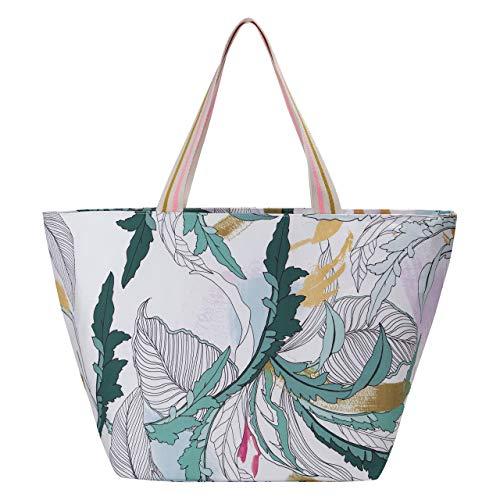 CODELLO Damen Canvas-Shopper mit dekorativem Blätter-Print