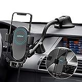 Mpow Qi Caricatore Wireless Auto, Auto-Bloccaggio Supporto per Telefono a Ricarica Rapida 10W/7.5W/5W, per iPhone 11/11 Pro/11 Pro Max/Xs Max/XS/XR/8, Galaxy S20/S10Note 9/S9, Huawei Mate P20 e Altri