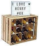 Kistenkolli Altes Land Henry / Nature / Flammé Étagère à bouteilles 50 x 40 x 30 cm