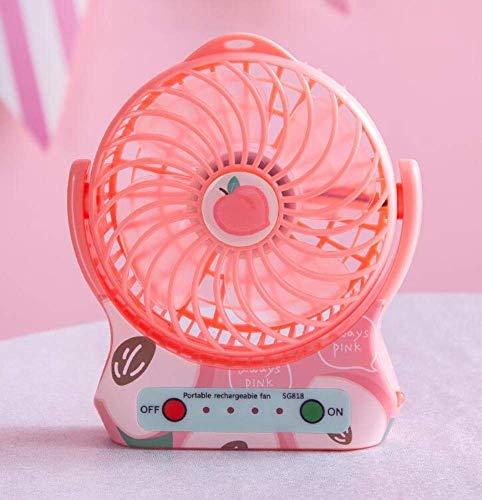 Ventilador, Batería Linda Mini Dormitorio eléctrico USB Ventilador eléctrico Recargable, Bed Mute Big Style Fan,Mano