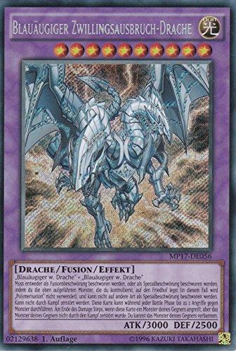 MP17-DE056 - Blauäugiger Zwillingsausbruch-Drache - Secret Rare - Yu-Gi-Oh - Deutsch - 1. Auflage