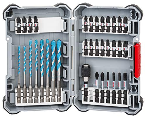 Bosch Professional 35-piece Impact Control HSS Twist Drill Bit Set (Pick and Click, HEX-9, Accessories for Impact Drivers)