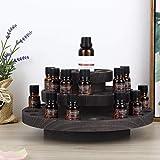 Essential Oils Rack, Wooden Rotating Nail Polish Stand Storage Organizer 3...
