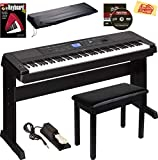 Yamaha DGX-660 Digital Piano - Black Bundle with Furniture Bench, Sustain Pedal, Dust...