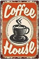 コーヒーハウス、ブリキサインヴィンテージ面白い生き物鉄の絵の金属板ノベルティ
