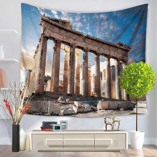 Tapiz Art Paño para colgar en la pared Impresión HD Cocina Dormitorio Sala de estar Decoración,Arquitectura Paisajes Hermosos paisajes de la ciudad - Tamaño de la habitación montada (100 cm x 15
