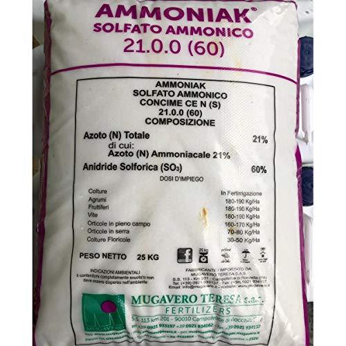 MUGAVERO--FERTILSUD-- Solfato ammonico 21 concime azotato idrosolubile Sacco da 25 kg