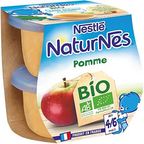 NESTLÉ Naturnes Bio Pomme - 2x115 g - Des 4/6 mois