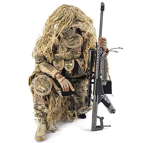 Simulation militärischen 12-Zoll-Scharfschützen Action-Charakter 1: 6 Verhältnis Soldat mit Scharfschützengewehr Dschungel günstigen Anzug Modell Spielzeug