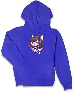 VJJ AIDEAR D.Va Overwatch Fan Lady Women's Sweater Long Sleeve Hoodie with Pocket Black