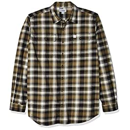 Carhartt Men's Big & Tall Hubbard Flannel Long Sleeve Shirt