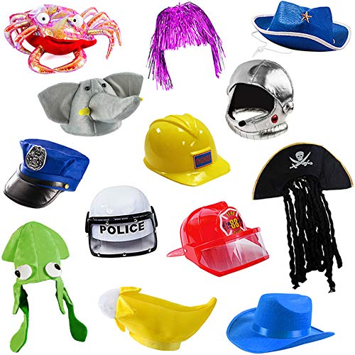 Funny Party Hats 6 Assorted Dress Up Costume & Party Hats (6 Child Costume Hats)