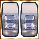 2 espejos laterales universales para camión, autobús, 36 x 18 cm, certificado E