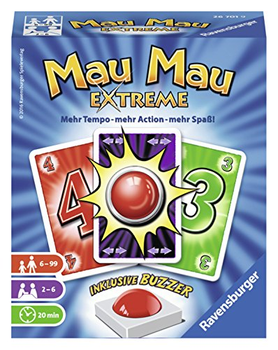 Ravensburger Kartenspiele 26701 - Mau Mau Extreme